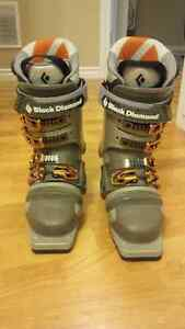 Black Diamond Push telemark ski boots size 27.0