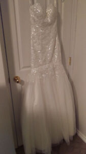 Mermaid Stella York Wedding Dress With Veil - $950 OBO