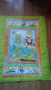 QUILTED CRIB QUILT - BRAND NEW