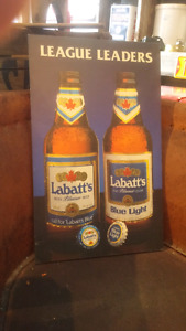 Labatt's blue wood sign