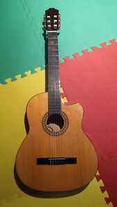 Acoustic electric classical guitar