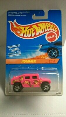HOT WHEELS HUMMER 1995 PINK DIECAST MINT 1:64