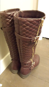 Red boots size 7.5