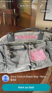 Never Used Juicy Couture Diaper Bag