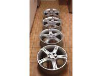 "Lexus is200 4 x 17"" alloy wheel set painted fresh refurbished 98-05 toyota honda mazda is 200 is300"