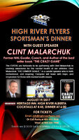 High River Flyers Sportsman's Dinner with Clint Malarchuk