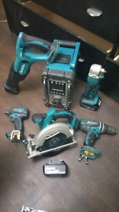 Makita 18v ion  power tools (cordless) LXT 6 Peice Set 350 OBO