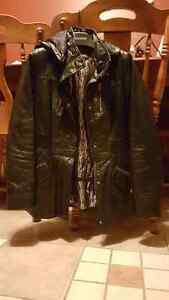 Danier Leather Coat, Thermal lined, barely worn.