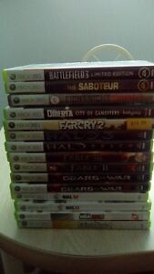 LOT OF 15 XBOX 360 VIDEO GAMES