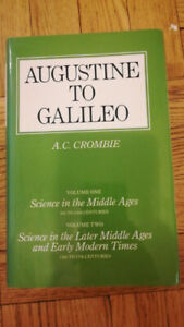 AUGUSTINE TO GALILEO VOLUME ONE AND TWO