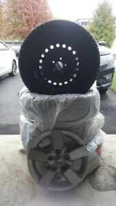 Barum Polaris 3 Winter Tires on Rims, TPMS & Nissan Wheel Covers