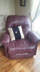 Burgandy Leather Rocker/Recliner - lazy boy style