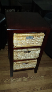Three drawer side table - two