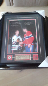 JEAN BELIVEAU-BOBBY HULL DUAL SIGNED HOCKEY PICTURE