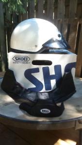 Shoei Motorcycle Half Helmet, Size Large, White, used