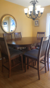 Beautiful Hardwood Dining Set