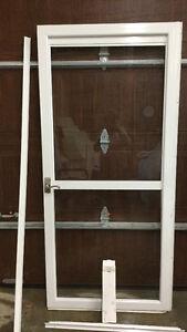 36x80 Regal Deluxe Full View Two Lite White Aluminum Storm Door