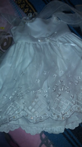 Excellent  white pearl Baptist  dress for sale