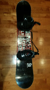 Firefly Furious 163cm Snowboard and Flow Quick Entry Bindings