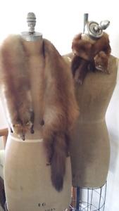 2 Vintage mink collars 1920 or earlier