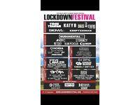 2 LOCKDOWN FESTIVAL WEEKEND TICKETS