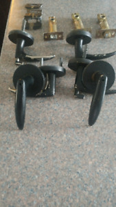 3 SETS OF DOOR HANDLES WITH ALL HARDWARE INCL.