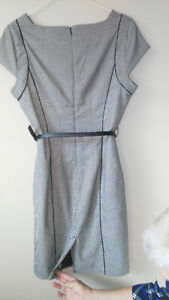 Houndstooth print fitted dress - size 8 petite Windsor Region Ontario image 2