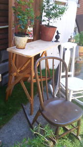2 SMALL ANTIQUE ROCKING CHAIRS  (2)