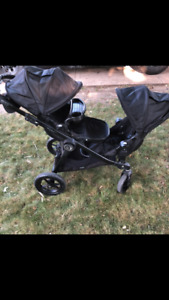 Baby jogger city select all black double stroller