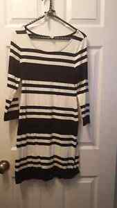 Old navy black and white stripes dress