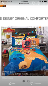 Brand new queen size lion guard full bedding set
