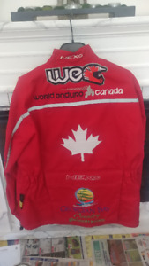 Motorcycle riding jacket from Ontario's First World Enduro Race