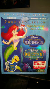 LITTLE MERMAID ARIELS BEGINING & RETURN TO SEA BLURAY DVD BNIP