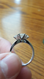 18k White Gold Trinity Engagement Ring, Never Worn!