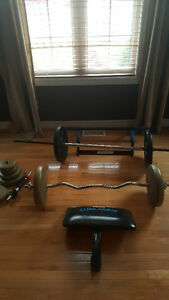 Weight set & Bench- Moving, must go in 2 days Windsor Region Ontario image 2