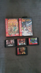 For sale sega genesis games that are 15 an 10 each game
