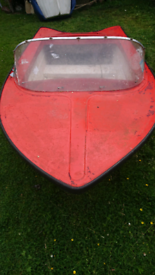 Motor boat speed boat project with trailer. No engine.