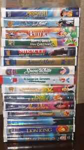 Assorted Family oriented VHS Movies Classics  $2.00 each
