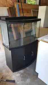 46 Gallon Bow Front aquarium with Stand