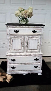Beautiful  solid wood dresser, shabby chic