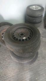 """Volkswagen VW Golf Mk7 Steel Wheels & Tyres 15"""" 5x112"""