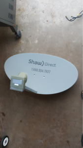 Shaw satellite dish with HD PVR and second HD box