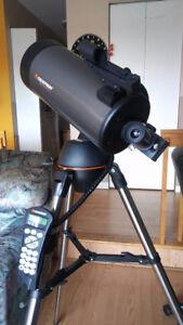 Télescope Maksutuv-Cassegrain GOTO et caméra Canon DSLR