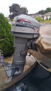20hp Mariner 2 stroke Outboard Long Shaft