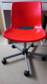 Red desk chair from ikea
