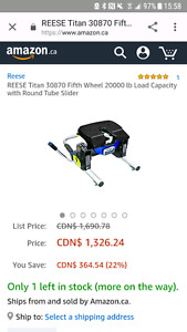 Reese 20k hitch 5th wheel