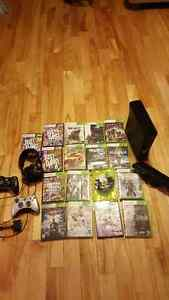 Xbox 360 with Kinect and headset 17 games $400