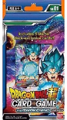 Dragon Ball Super TCG CCG Starter Deck Awakening In Hand Cheapest