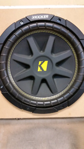 "10"" sub and amp in custom box for Toyota Tacoma"
