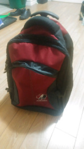Team Canada backpack with wheels in excellent condition